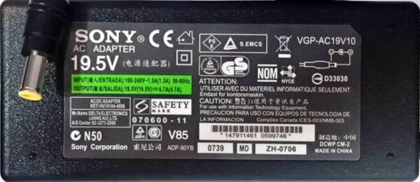 آداپتور لپ تاپ سونی 19.5V 4.7A اورجینال