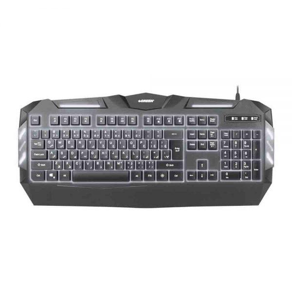 Backlight Gaming Keyboard GREEN GK403