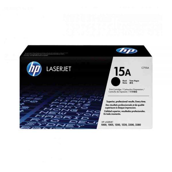HP Black Original LaserJet Toner Cartridge 15A