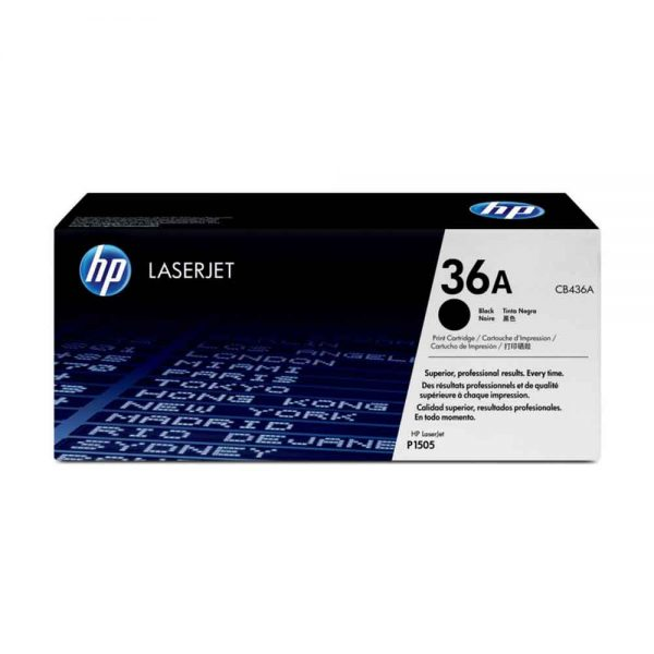 HPLaserJet Toner Cartridge 36A Black Original