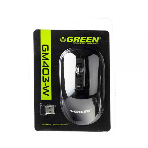 Green Wireles Optical Mouse GM403-W