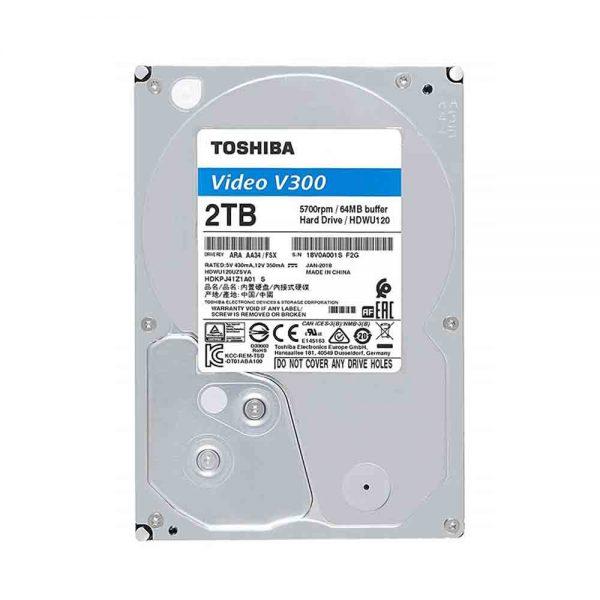 HDD Toshiba Video 2TB 5700rpm 64MB V300