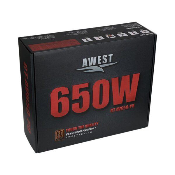 Power AWEST 650W GT-AV650-PB | پاور اوست سري برنز