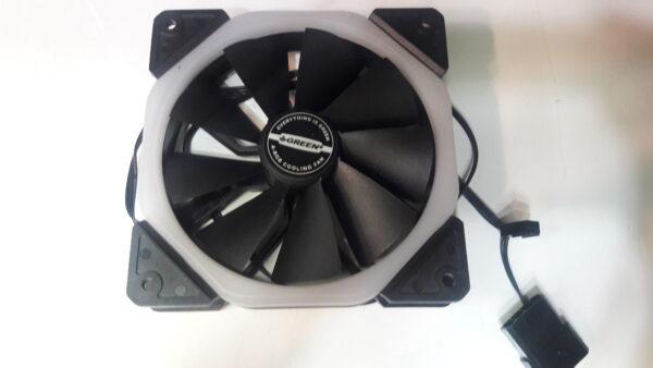فن و خنک کننده کیس و پاور ۱۲*۱۲ اورجینال گرین مدل A-RGB