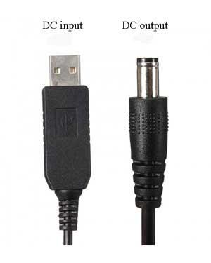 كابل و تبديل USB به DC مخصوص برق مودم