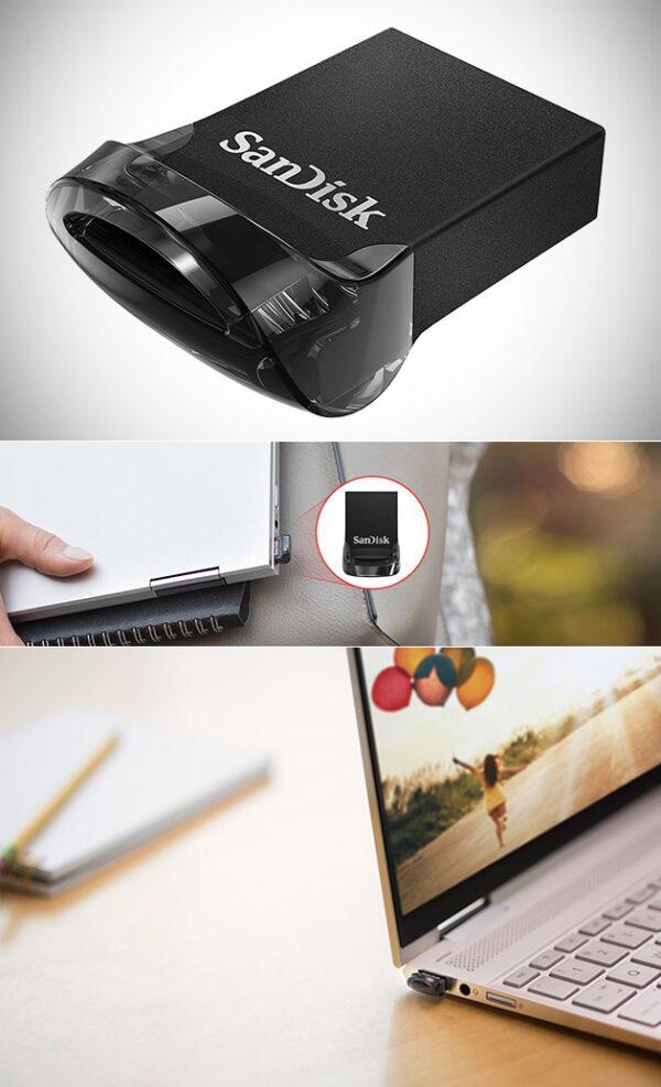 128 SanDisk Ultra Fit USB 3.1 Flash Drive GB   فلش مموری سن دیسک
